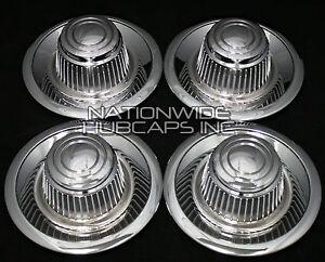 4 fits Chevy GM Rally Wheel Center Hub Caps 15x8 15x7 Rim Derby Cap Trim Rings