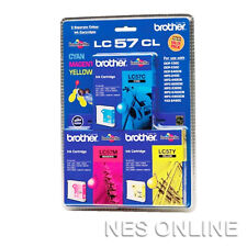 Brother Genuine LC57CL3PK Value Pack Ink Cartridge for DCP350C/DCP540CN/MFC5860