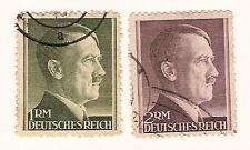 Germany 1942 -  Hitler Head   Scott 524-525