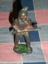 Old Metal Indian with Gun 3 1/4 inch High  Note Paint Loss