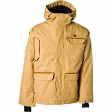 DC Shoes Servo Jacket Mens Snowboard Ski 40g Insulated 8K Waterproof Tan M