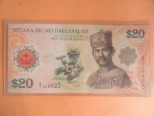 $20 Portrait Brunei Polymer Note 40th Anniversary A/2 226823