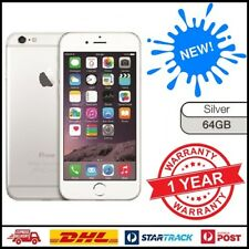 New Apple iPhone 6 64GB Silver 4G GSM LTE WIFI 100% Factory Unlocked 12 MTH WTY