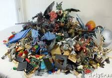 Huge Lot Mega Bloks Krystal Wars Fire and Ice Dragons Mini Figures Manuals