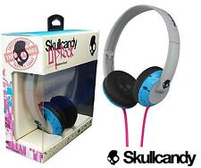 NEW Skullcandy Uprock Blue/Light Gray On Ear Headphones Supreme Sound