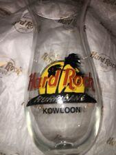 HARD ROCK CAFE HURRICANE Cocktail Drink Bar Glass KOWLOON (Hong Kong) RARE