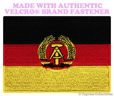 EAST GERMANY FLAG PATCH GERMAN Aufnäher Deutschland w/ VELCRO® Brand Fastener