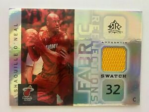 2005-06 Reflections SHAQUILLE O'NEAL Fabric Reflections Swatch #FR-SO, Heat HOF