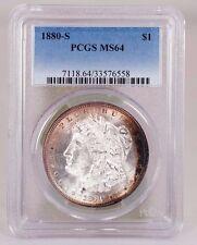 1880-S Morgan silver Dollar PCGS MS 64 Toned