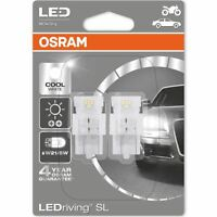 OSRAM LED W21/5W 580 (T20 DC) 12V 7716CW-02B Cool White Wedge Bulbs 6000K Twin