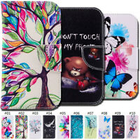 Painted Holder Flip Stand Wallet Card PU Leather Case Cover For Nokia 1 (2018)