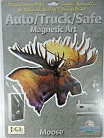 Rivers Edge Products Moose Auto Truck Safe Magnetic Art Non-Adhesive Removable