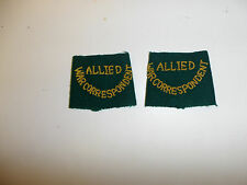 c0050a WW2 Civilian Allied War Correspondent slip on Bullion/wool pair R10B