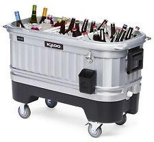 New Large Party Bar Cooler Ice Chest Huge 125 Quart Rolling Lights Up Inside