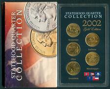 2002 U.S. STATEHOOD QUARTER COLLECTION 5-Quarters UNC Coins GOLD EDITION