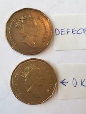 Canada 1990 $1 dollar coin circulated,very Rare.