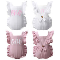 Infant Baby Girls Solid Romper Birthday Party Jumpsuits Bodysuits Outfit Sunsuit