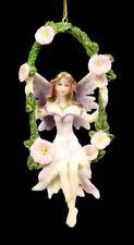 Lila Figura Elfos en Columpio - Fantasía Hadas Decoración para Colgar