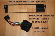 Détails sur  Entretoise entourage autoradio BMW série 3 e46 + ISO COSSES PLATES