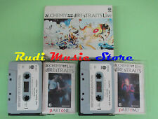 MC DIRE STRAITS Alchemy live 2 mc 1984 italy VERTIGO 818 244-4  no cd lp dvd vhs