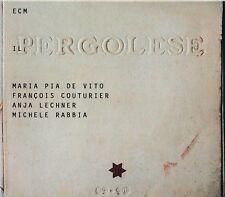 Pergolese CD NEW Maria Pia de Vito Francois Couturier Lechner Rabbia