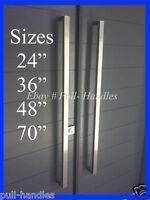 Square Pull Long Door Handle Entry Modern 316 Stainless Steel Marine Grade