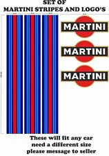 Le Mans Martini Racing style Stripe and Logo Set Sticker decal A648FF