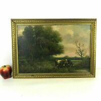 George A. Hays (1854-1945 New Hampshire) Pastoral Landscape W Cattle Oil/Canvas
