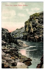 Early 1900s Santa Cruz Island, Valdez Harbor, CA Hand-Colored Postcard *6J5