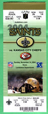 11/14/04 SAINTS/CHIEFS NFL FOOTBALL FULL/UNUSED TICKET