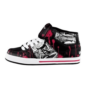 Globe Skateboard Shoes Mace High Sekure D Black/White/Fuschia Womens
