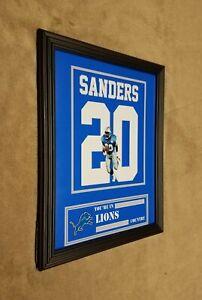 Detroit Lions Barry Sanders Framed 8x10 Jersey Photo