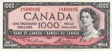 Canada 1000 Dollars 1954 P73 Reproduce