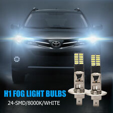 2X H1 24-SMD 4014 LED Car Replacement Bulb For Fog Light Driving DRL White Globe