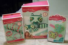 American Girl Crafts Wrap & Roll Bracelets Sew & Stuff Raccoon Sew & Shares