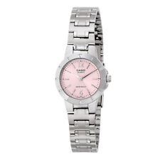 Casio LTP-1177A-4A1 Pink Dial Analog Womens Watch LTP-1177 Stainless Steel New