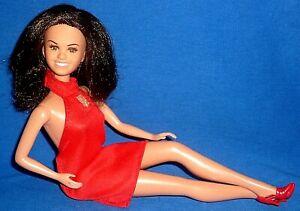 Vintage 1976 Mattel Marie Osmond Barbie Dolls & 1980s Clone Red Mini Dress