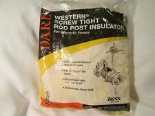 Dare Western Screw Tight Rod Post Insulators - 25 pack