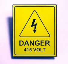 "ABS Safety Yellow Label - ""Danger 415 Volt"""