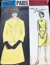 Vintage VOGUE Paris Original Lanvin 1386  UNCUT! Sz 14 Suit & Overblouse Pattern