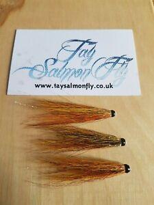 "3x Rogie 1.5"" Copper Tube Salmon Fishing Flies"