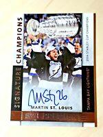 2014-15 MARTIN ST. LOUIS Upper Deck Premier Signature Champions Autograph SC-MS