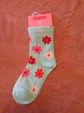 NWT Gymboree Tropical Garden Aqua Floral Socks Sz 3-4