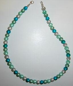 Halskette originale * Polaris * Perlen samragd türkis blau grün grau mint Kette