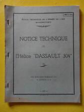 """Armée de l'Air Rochefort Notice Technique Hélice """"Dassault 304"""" 1967 aviation"""