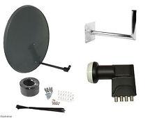 80CM Mesh Satellite Dish With Wall Mount & Quad LNB/ Installation Kit