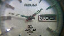 1985 NOS, STUNNING SEIKO 4004 QUARTZ DIAMOND DUST, ALL SS AND ORIGINAL