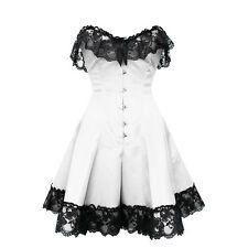 Cotton Blend Glamour Strap Boned Basques & Corsets for Women