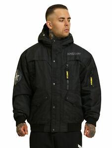 Amstaff Conex Winterjacke 3.0 Männer Bomberjacke mit Sturmmaske Größe S bis 4XL