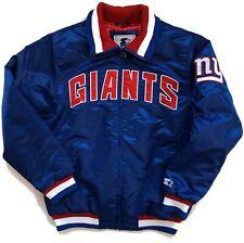 New York Giants Starter NFL Captain II Royal Blue Satin Jacket Men's Large